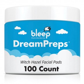 bleep DreamPreps Witch Hazel Facial Pads (100 Pads/Wipes)